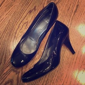 Stuart Weitzman black patent leather heels